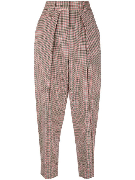 Cédric Charlier checked trousers in red