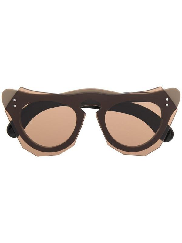 Marni Eyewear geometric-frame sunglasses in brown
