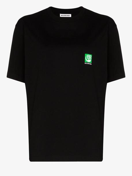 Balenciaga Green logo T-shirt