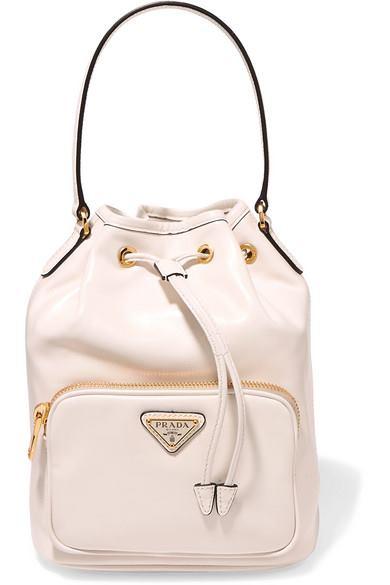 Vela Small Leather Bucket Bag