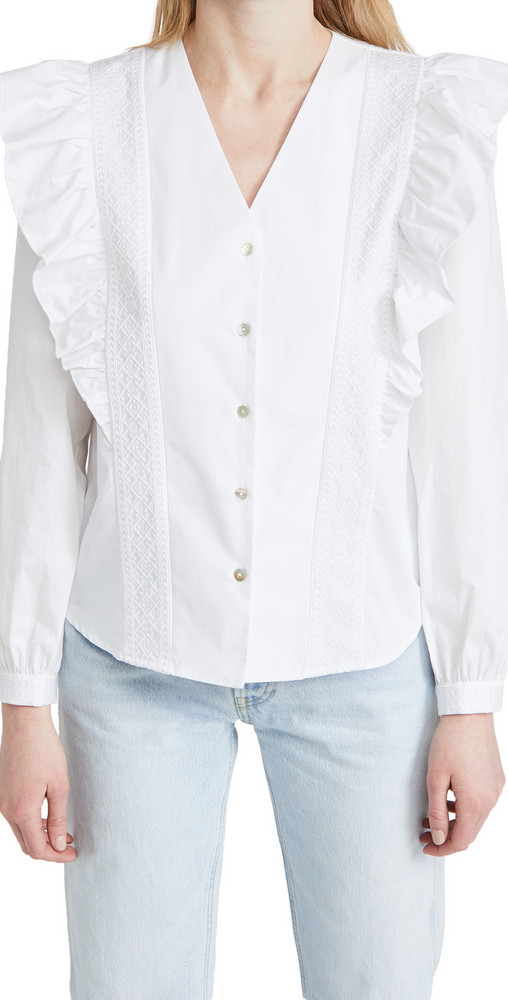 Rebecca Minkoff Janice Top in white