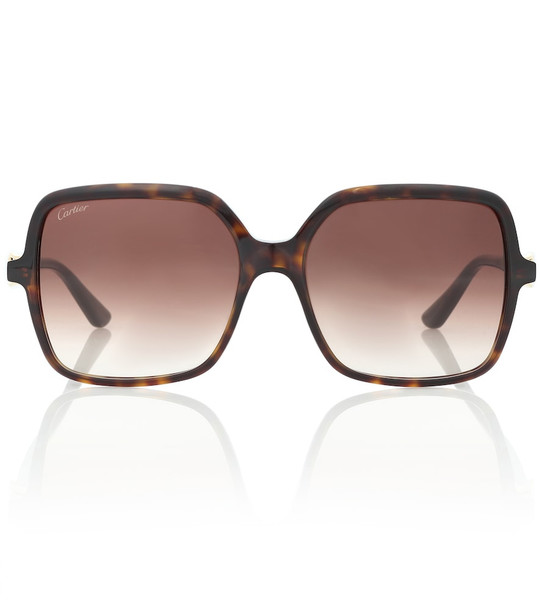 Cartier Eyewear Collection Signature C square sunglasses in brown
