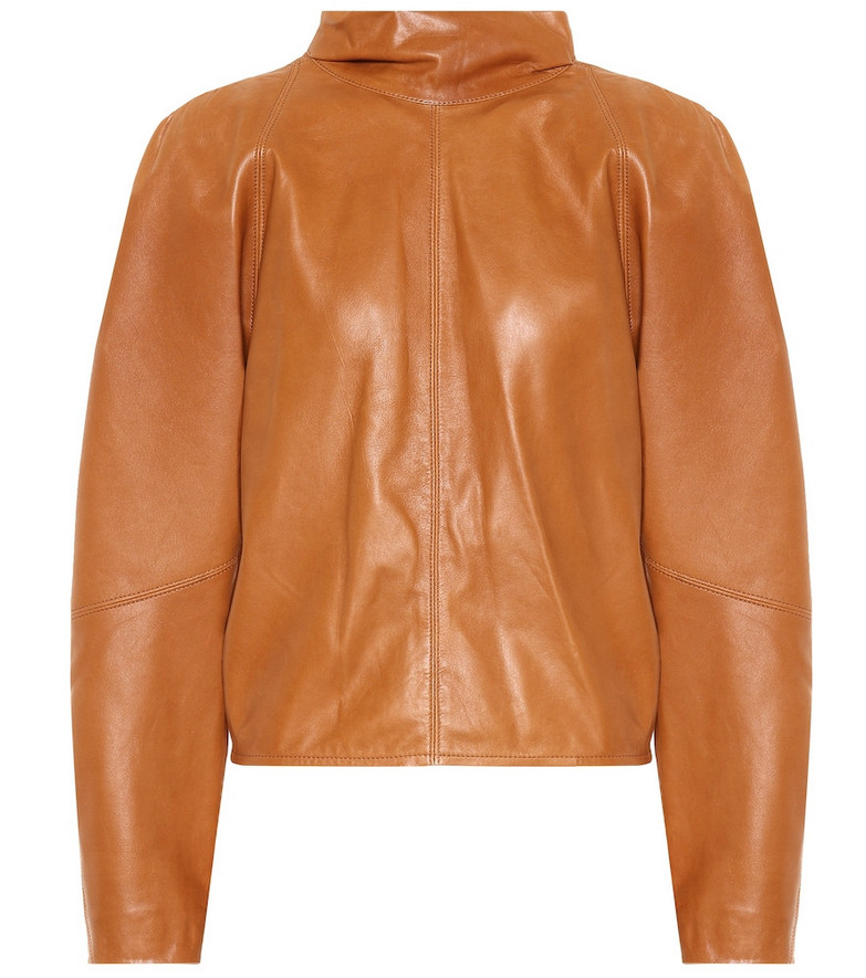 Isabel Marant Caby leather blouse in brown