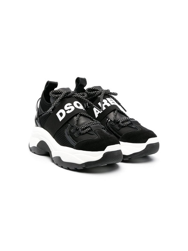 Dsquared2 Kids panelled low-top sneakers in black