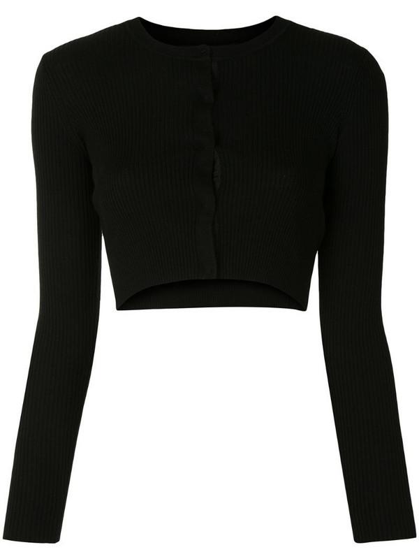 Paule Ka cropped wool cardigan in black