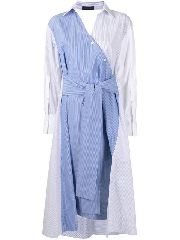 Eudon Choi multi-panel design shirt dress in blue