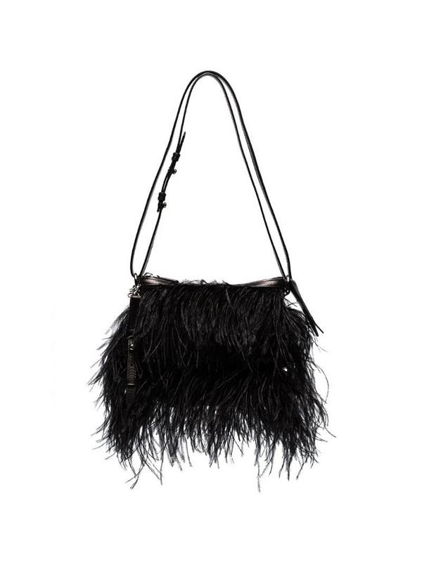 Marques'Almeida feather shoulder bag in black