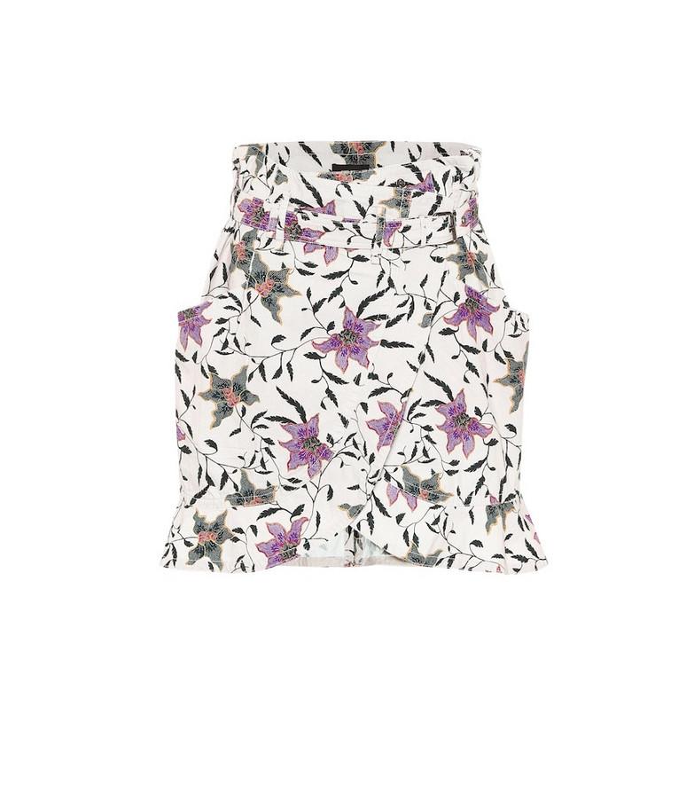 Isabel Marant Roani printed cotton miniskirt