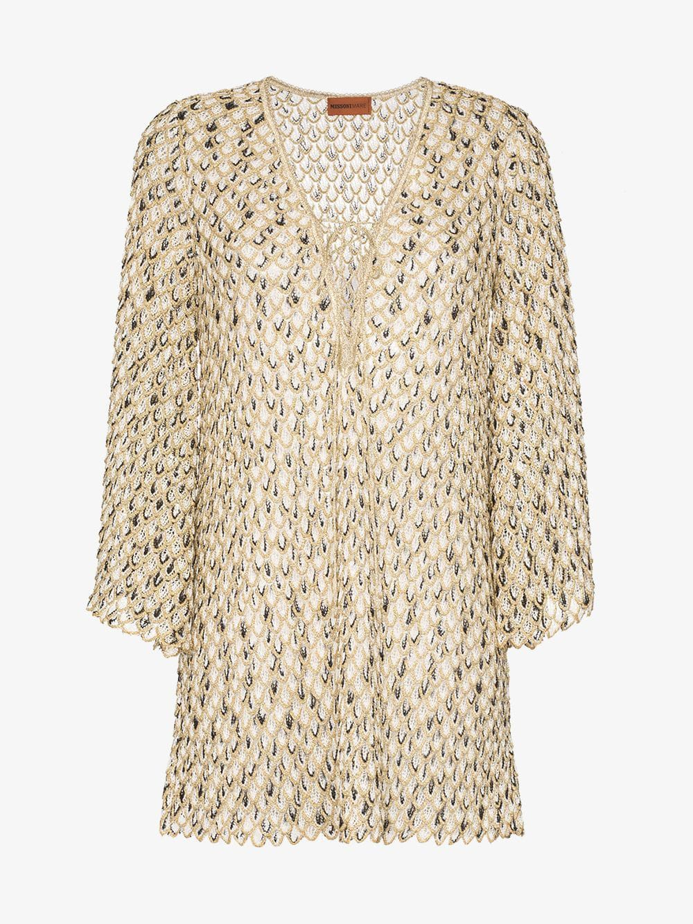 Missoni Mare scale-effect knitted beach dress in metallic