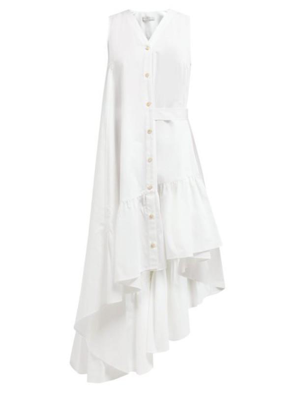 Palmer/harding Palmer//harding - Super Asymmetric Cotton Poplin Midi Dress - Womens - White