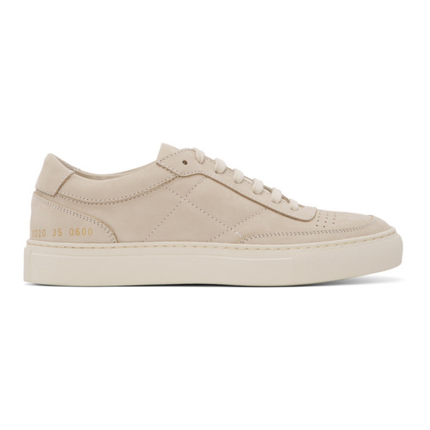 Woman by Common Projects Beige Nubuck Resort Classic Sneakers