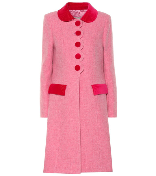 Marc Jacobs The Sunday Best wool coat in pink