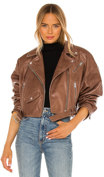 LAMARQUE Dylan Jacket in Brown in tan