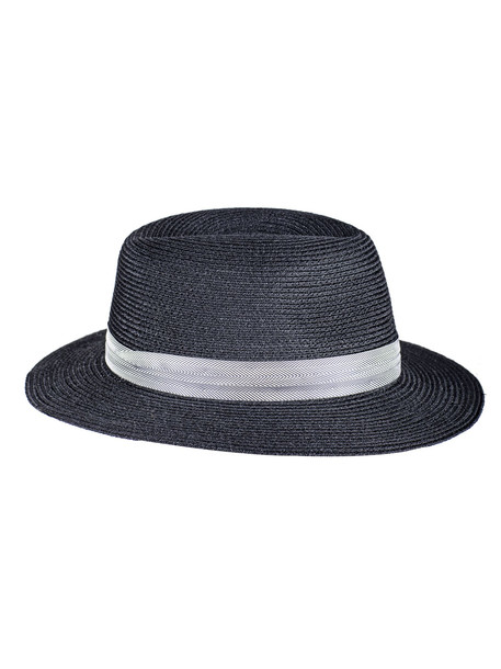 Maison Michel Woven Band Hat in black