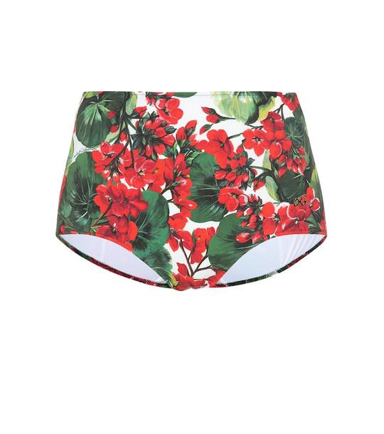 Dolce & Gabbana High-rise floral bikini bottoms