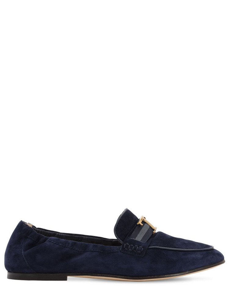 TOD'S 10mm Suede Loafers in blue
