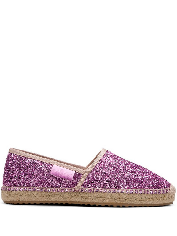 Car Shoe glitter-effect espadrilles in pink
