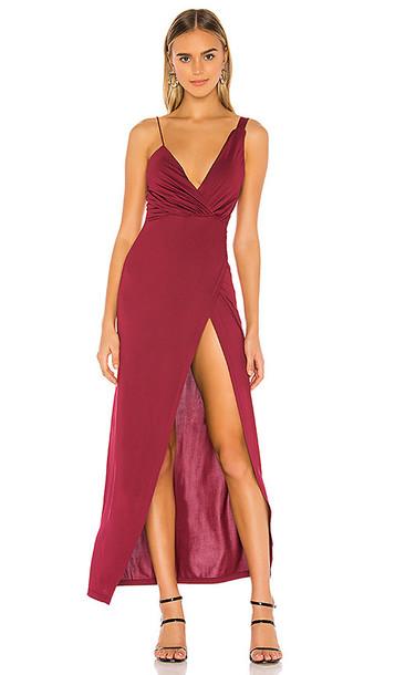 superdown Leandra Dress in Wine in red