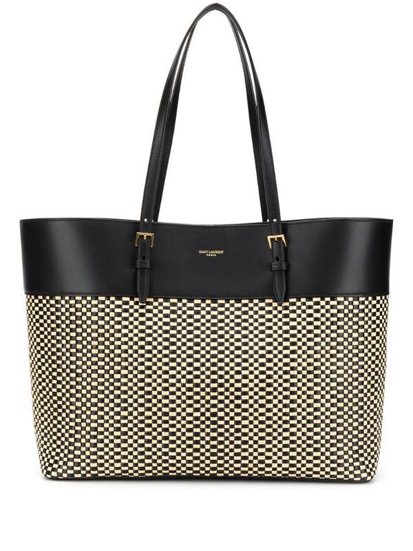 Saint Laurent medium Bouclé shopper tote in black