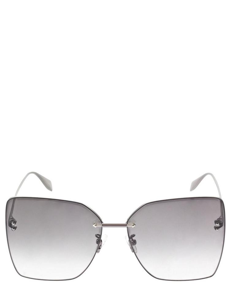 ALEXANDER MCQUEEN Metal Sunglasses in grey