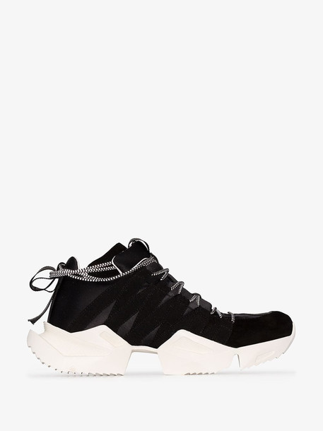 Unravel Project drawstring low-top sneakers in black
