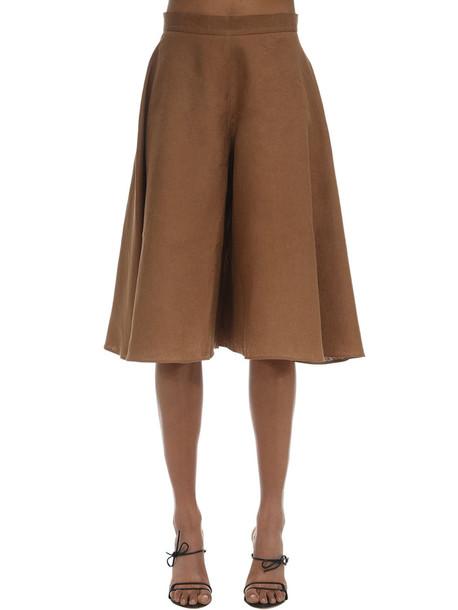 LIYA Linen Blend Bermuda Shorts in brown
