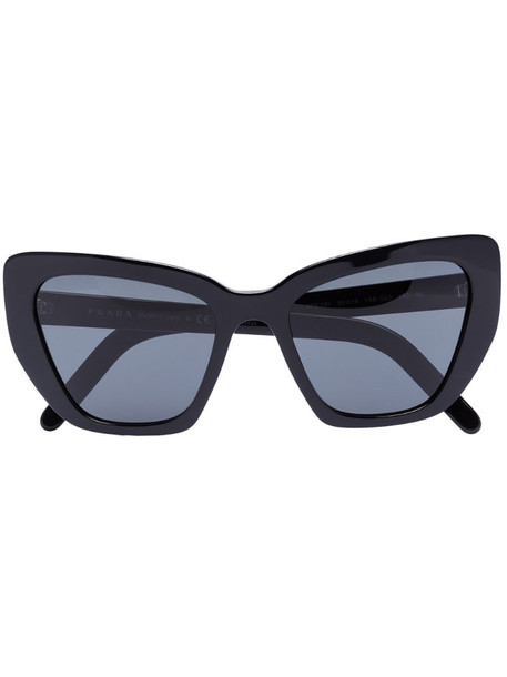 Prada Eyewear cat-eye frame sunglasses in black