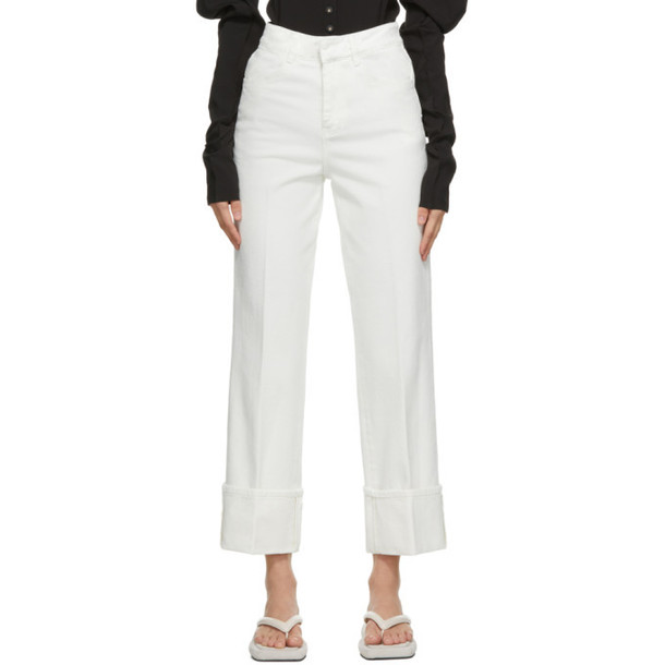 LOW CLASSIC White Roll-Up Jeans