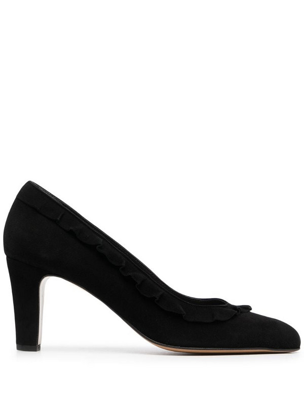 Tila March pointed suede pumps in black