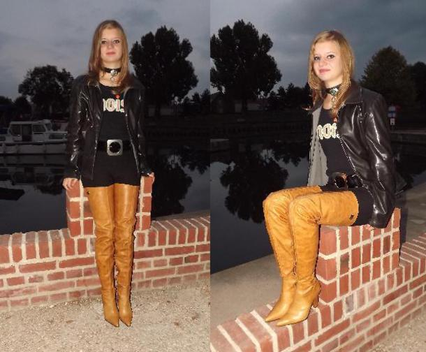 shoes yellow gold crotch boots fernando berlin tigh high boots
