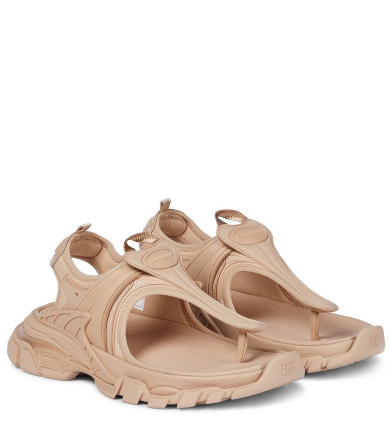 Balenciaga Track sandals in beige