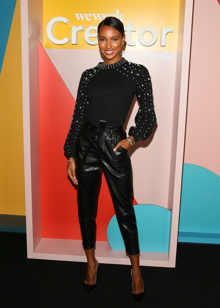 pants leather pants leather all black everything jasmine tookes celebrity top