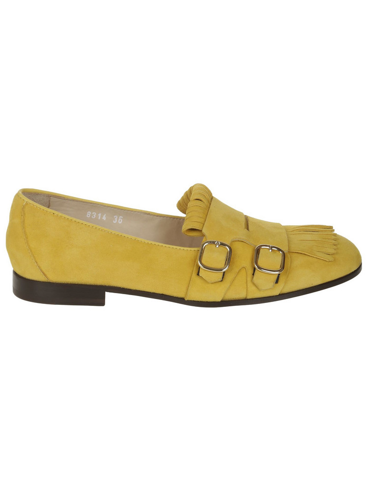 Doucal's Fringed Loafers in yellow