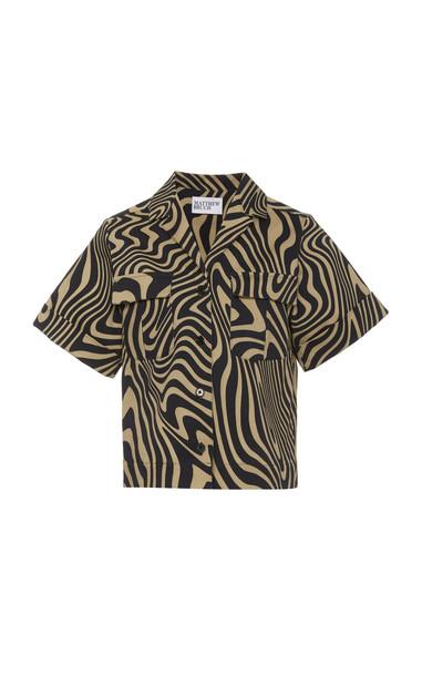 Matthew Bruch Safari Twill Shirt Size: XS in print