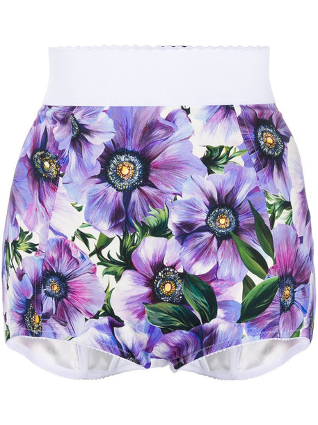 Dolce & Gabbana floral full briefs in blue