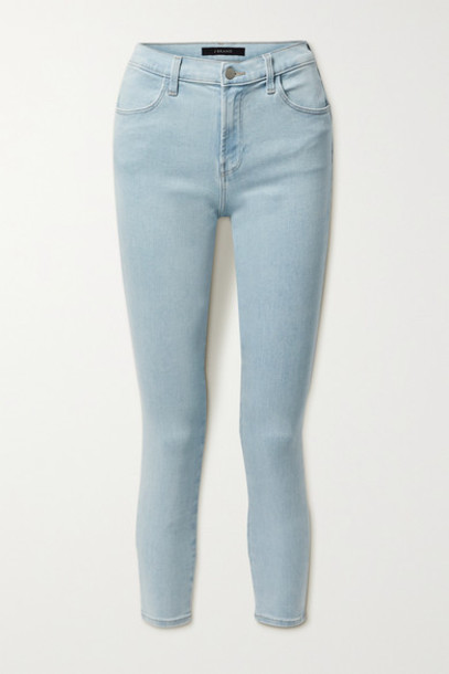 J Brand - Alana Cropped High-rise Skinny Jeans - Light denim