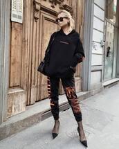sweater,hoodie,sweatshirt,joggers,pumps,tights,black bag