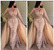 dress,detachable skirt,rose gold,evening dress,prom dress,embellished dress,sparkly dress