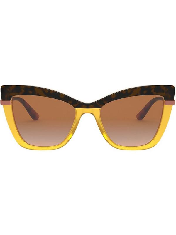 Dolce & Gabbana Eyewear two-tone oversized sunglasses in brown