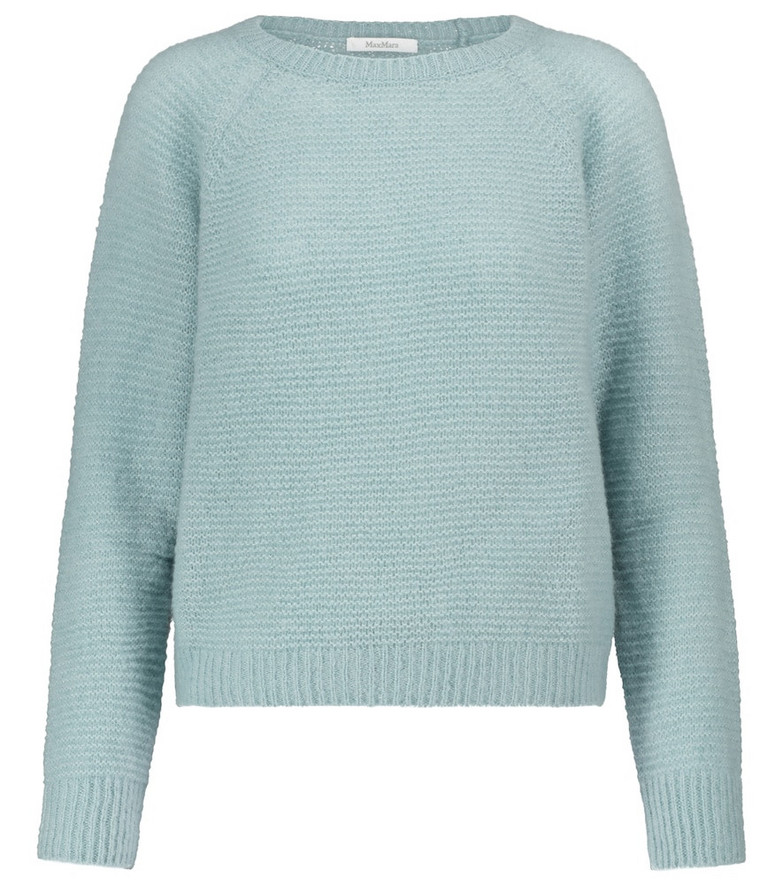 Max Mara Kiku cashmere and silk sweater in green