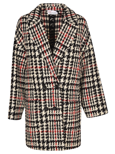 RED Valentino Double Breasted Coat in nero