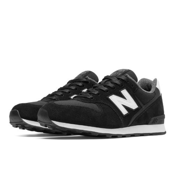 New Balance 696 Shadows Women's Running Classics Shoes - Black, White (WL696SHA)