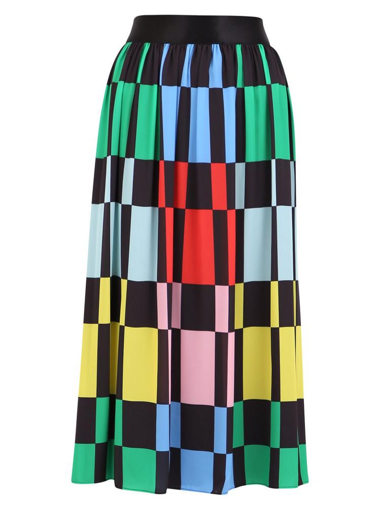 Alice + Olivia Alice + Olivia Color Block Skirt in black