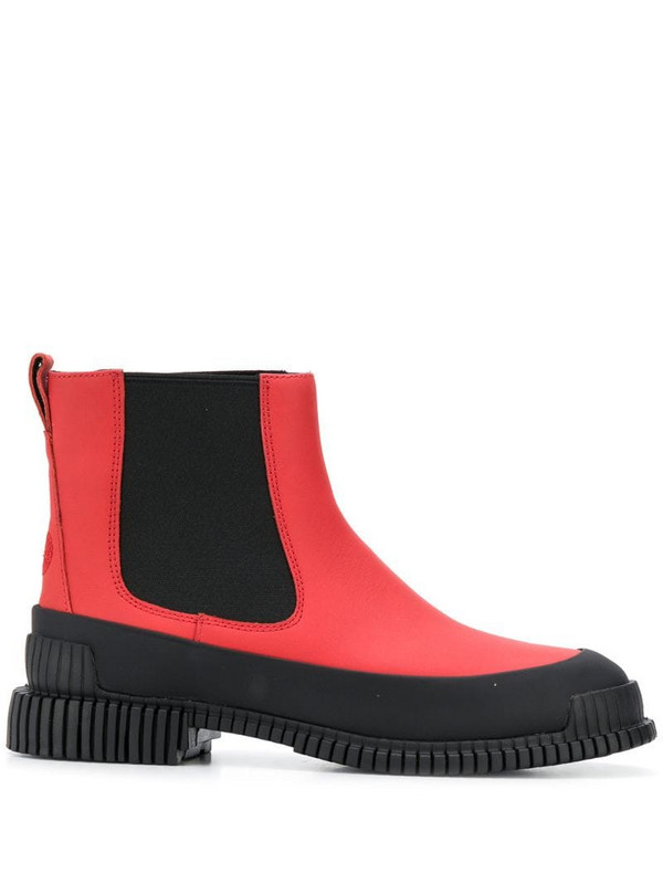 Camper Pix ankle boots in red