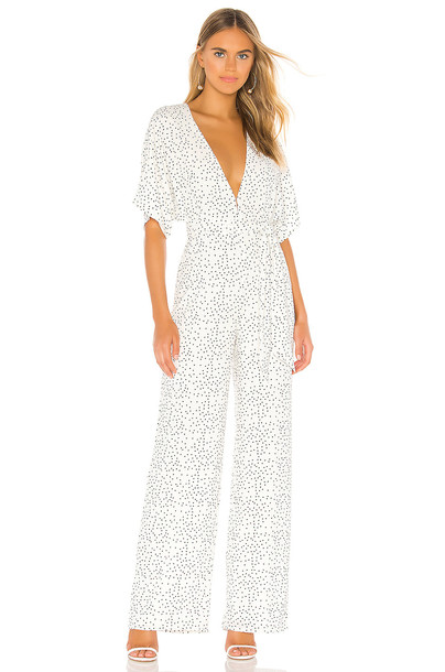 Lovers + Friends Jackson Jumpsuit in white