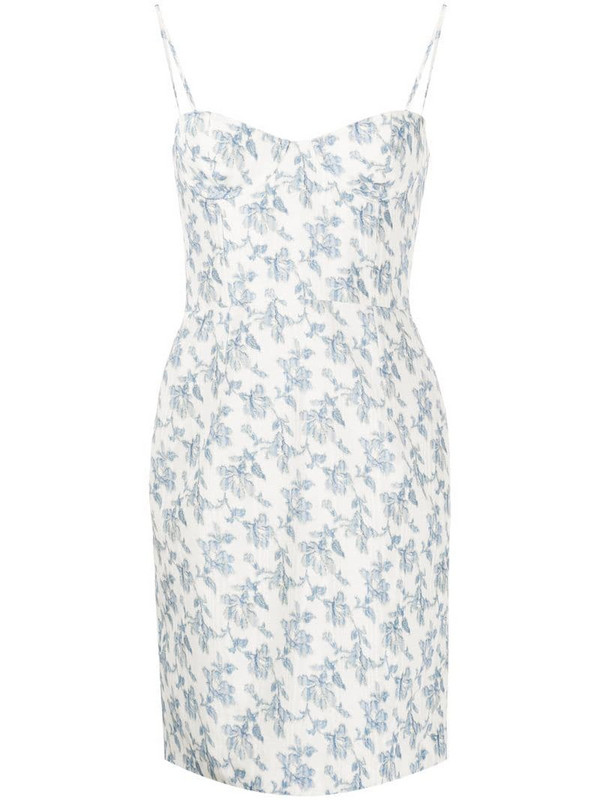 Brock Collection floral mini dress in neutrals