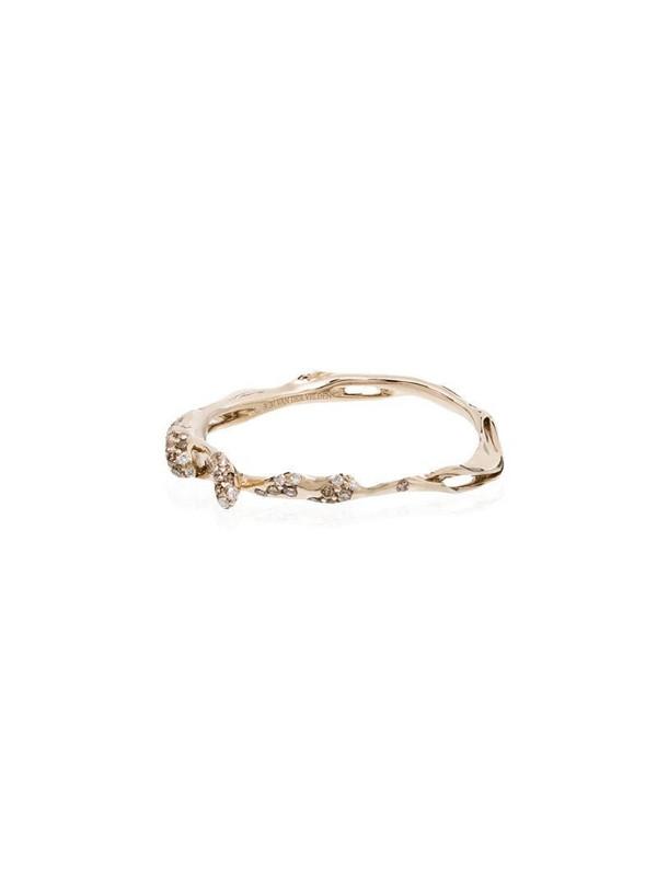 Bibi van der Velden 18kt white gold wave diamond stackable ring