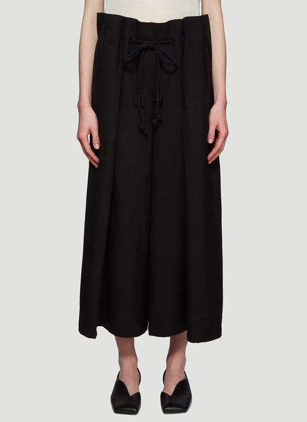 Issey Miyake Rope Tie Wide-Leg Pants in Black size 2