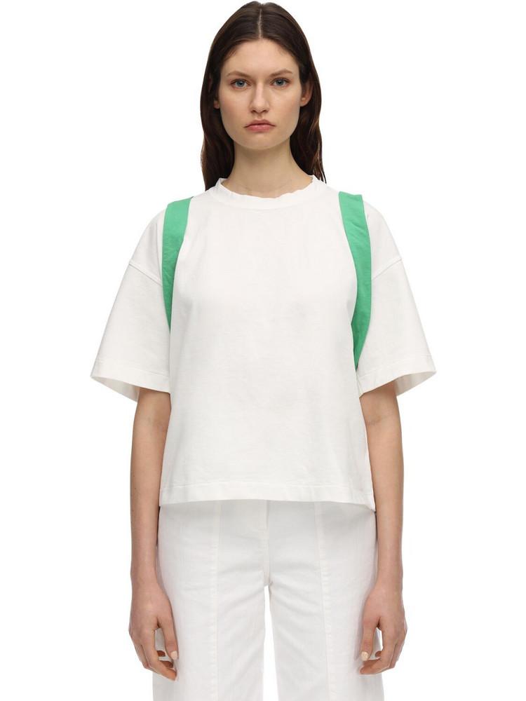 AMBUSH Cotton T-shirt W/corset in white