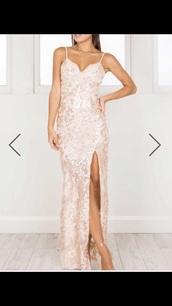 dress,blush,gold,gold foil,floral